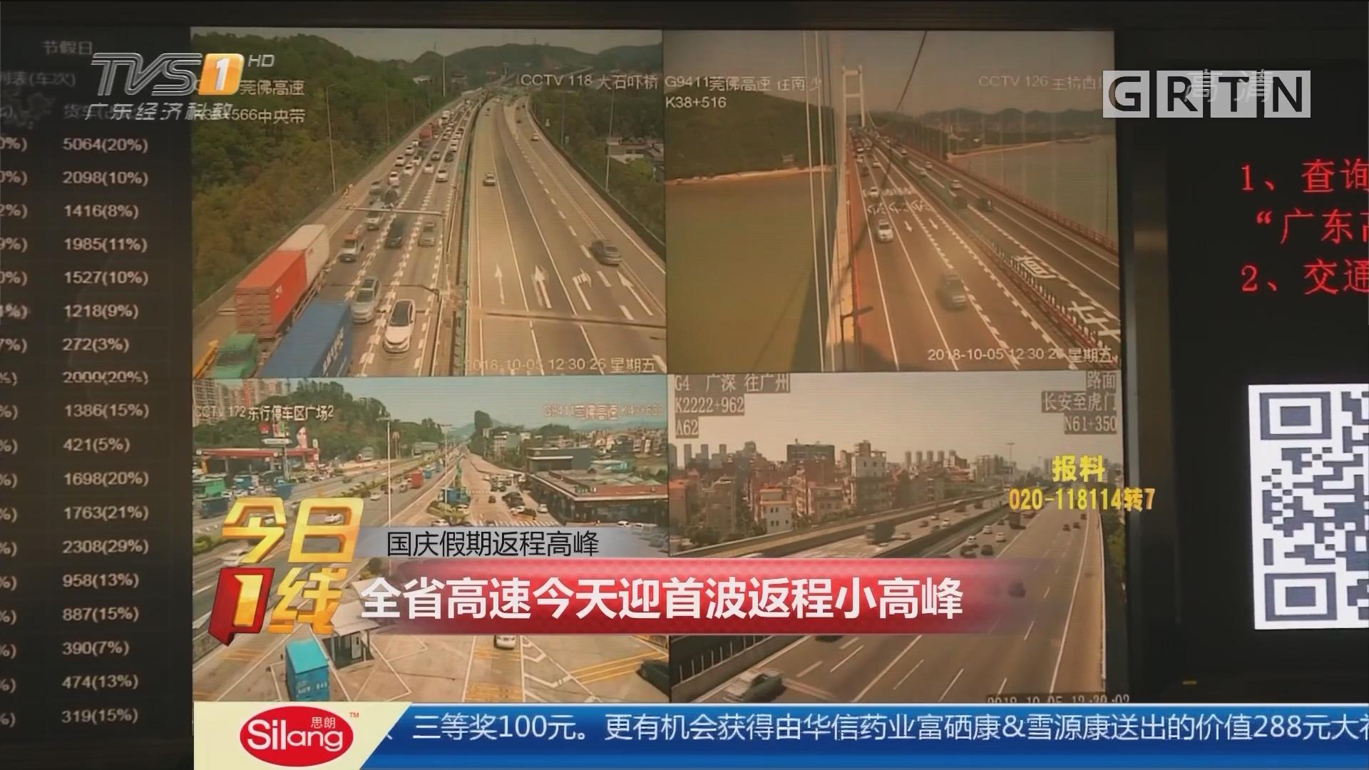 国庆假期返程高峰:全省高速今天迎首波返程小高峰
