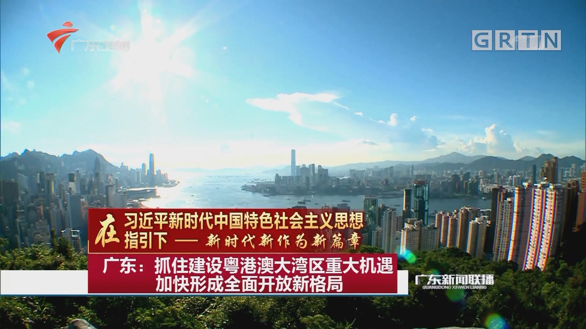 广东:抓住建设粤港澳大湾区重大机遇加快形成全面开放新格局