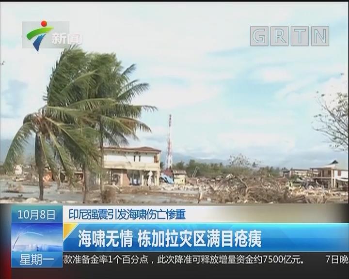 印尼强震引发海啸伤亡惨重:海啸无情 栋加拉灾区满目疮痍