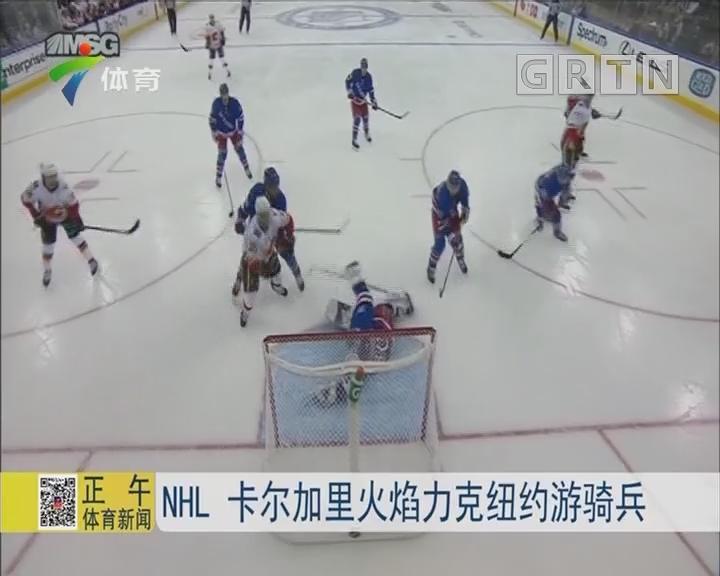 NHL 卡尔加里火焰力克纽约游骑兵