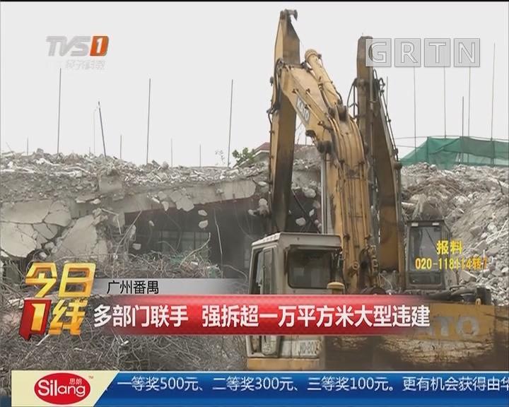 广州番禺:多部门联手 强拆超一万平方米大型违建