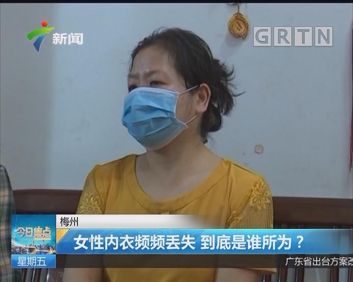 梅州:女性内衣频频丢失 到底是谁所为?