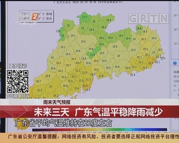 周末天气预报:未来三天 广东气温平稳降雨减少