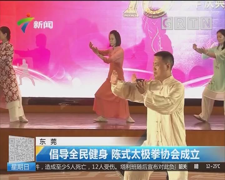 东莞:倡导全民健身 陈式太极拳协会成立