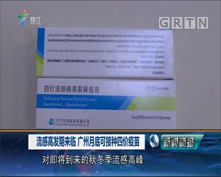 流感高发期来临 广州月底可接种四价疫苗