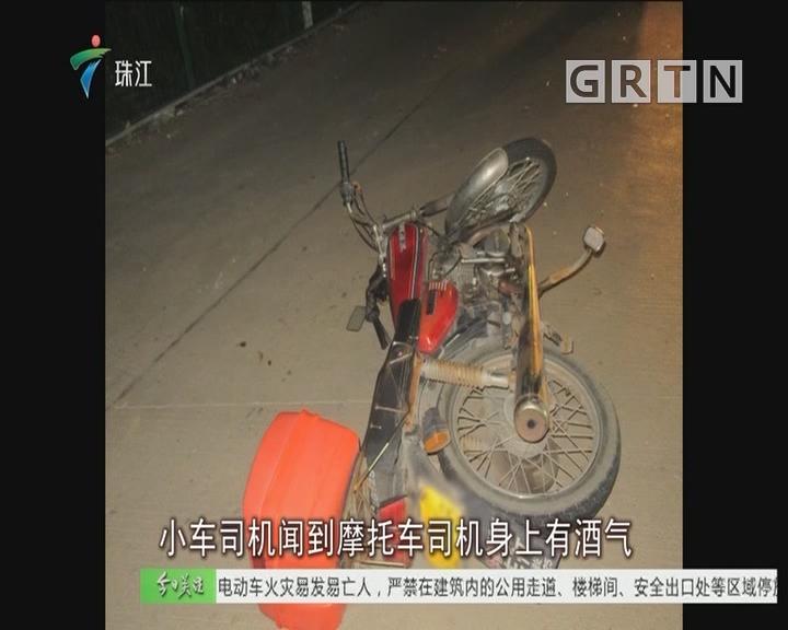 中山:交警跳河擒获无证醉驾摩托司机