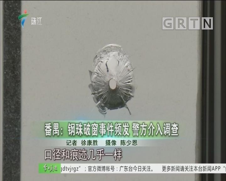 番禺:钢珠破窗事件频发 警方介入调查