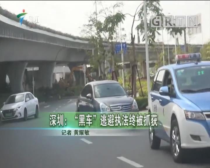 """深圳:""""黑车""""逃避执法终被抓获"""