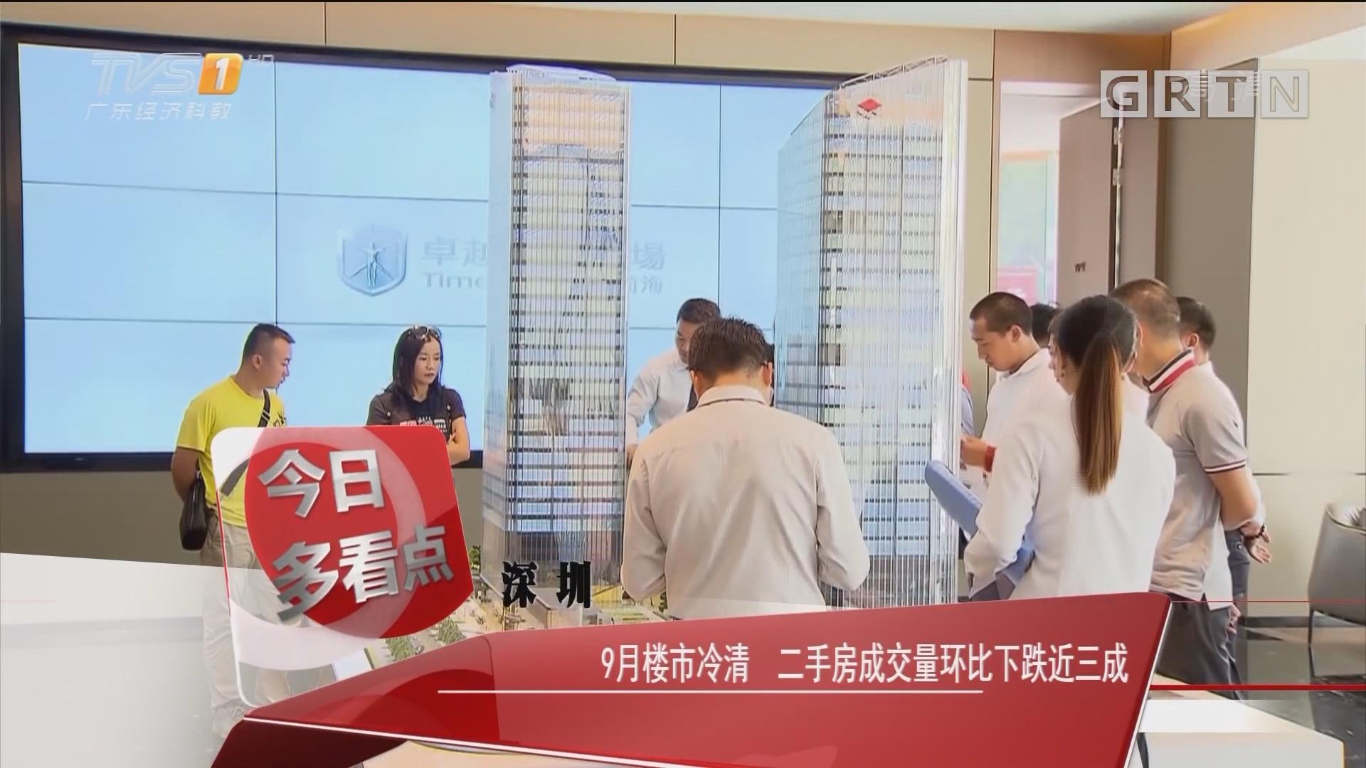 深圳:9月楼市冷清 二手房成交量环比下跌近三成