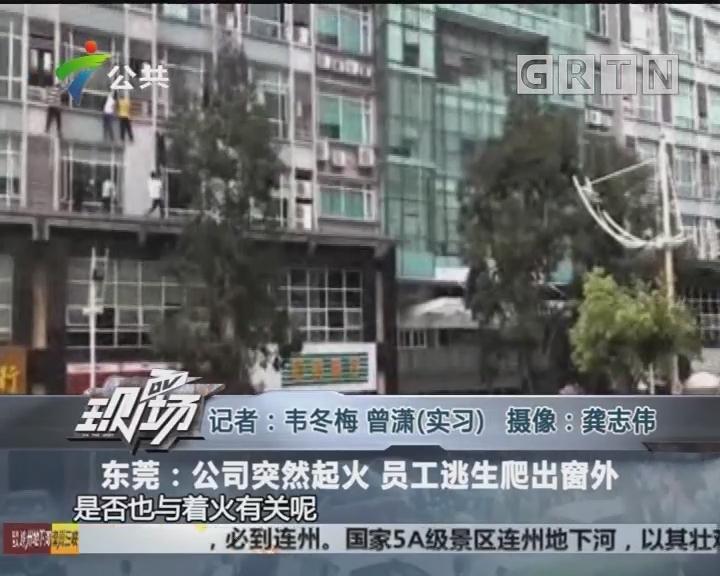 东莞:公司突然起火 员工逃生爬出窗外