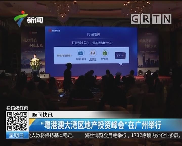 """""""粤港澳大湾区地产投资峰会""""在广州举行"""