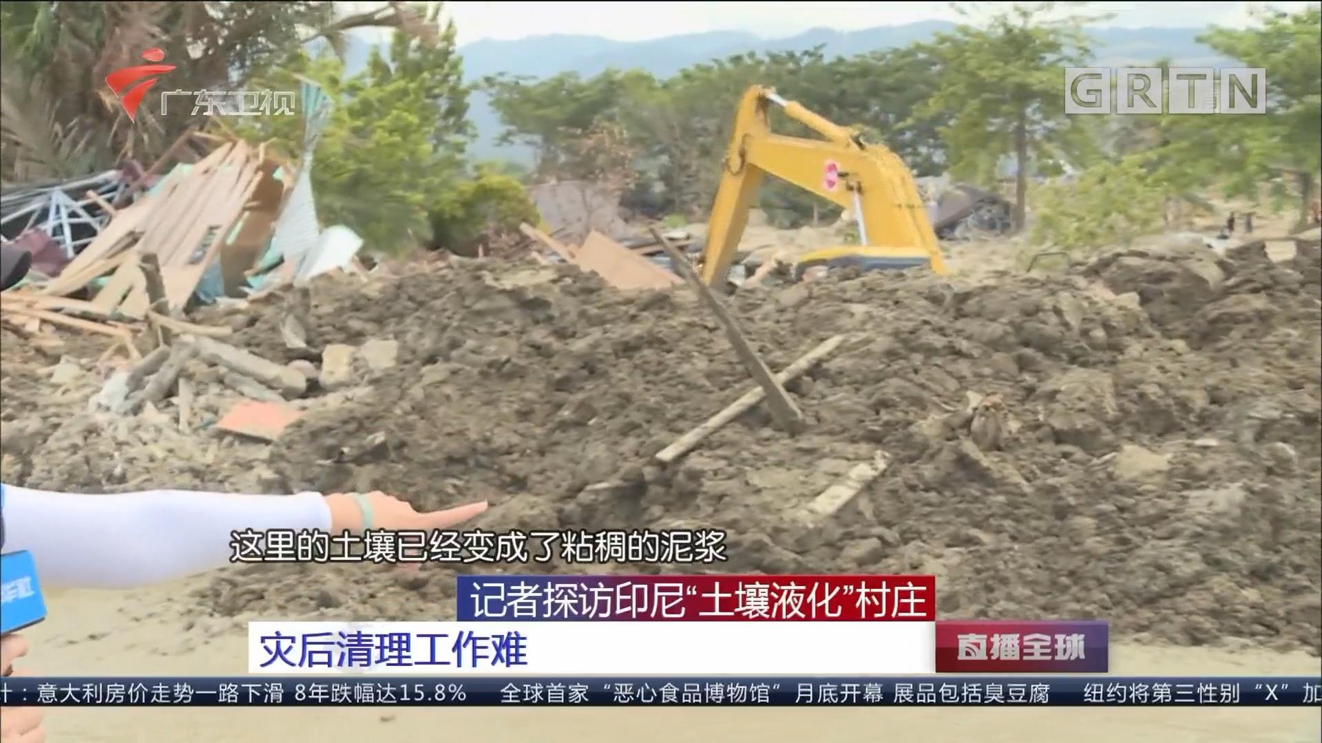 """记者探访印尼""""土壤液化""""村庄:灾后清理工作难"""