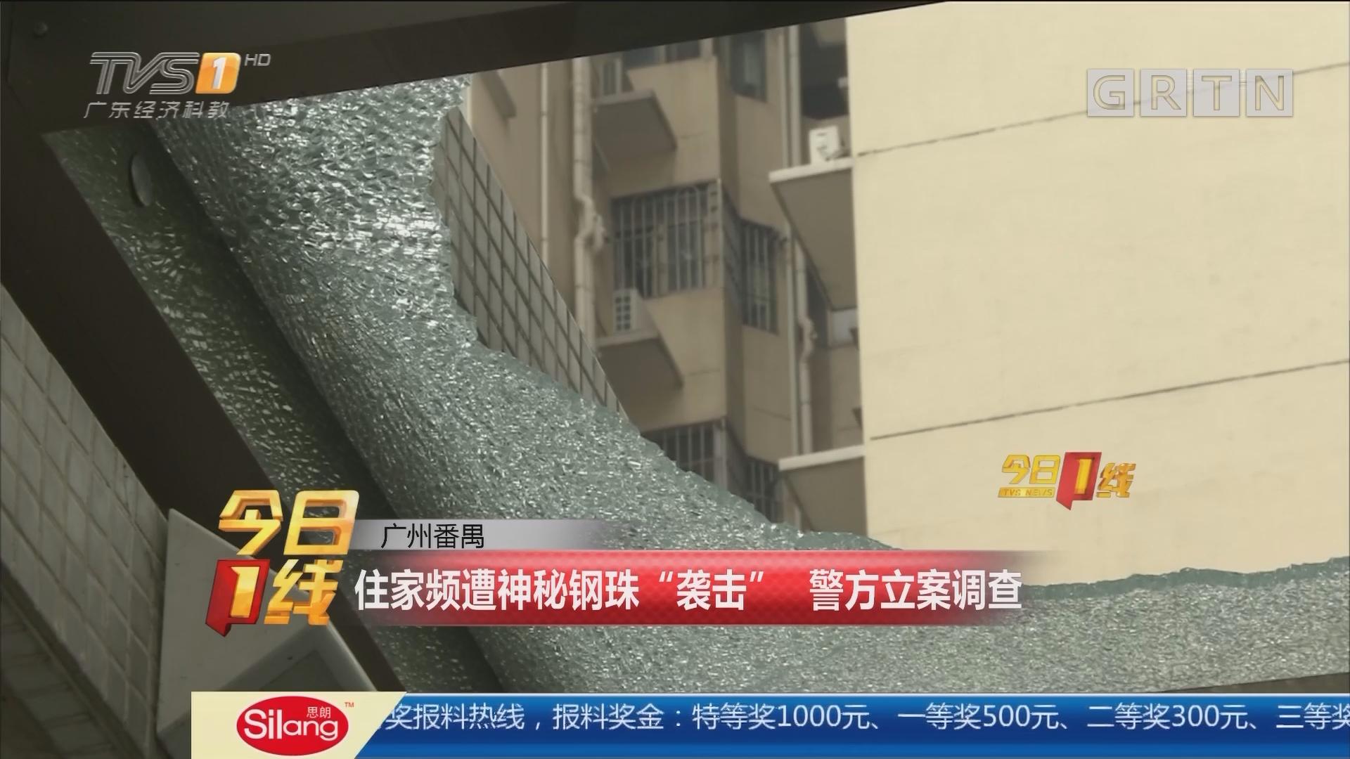 """广州番禺:住家频遭神秘钢珠""""袭击"""" 警方立案调查"""