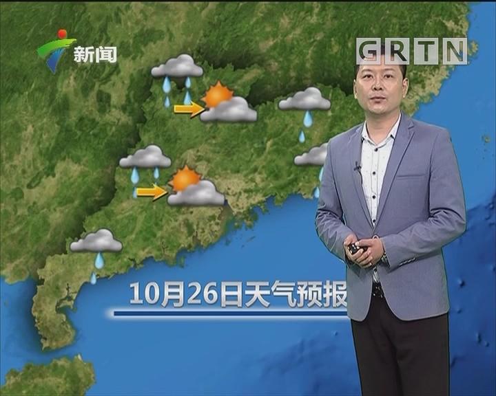 20181026天气预报