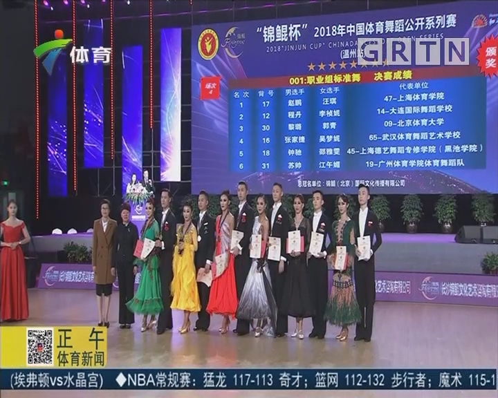 2018年中国体育舞蹈公开系列赛温州站比赛拉开帷幕