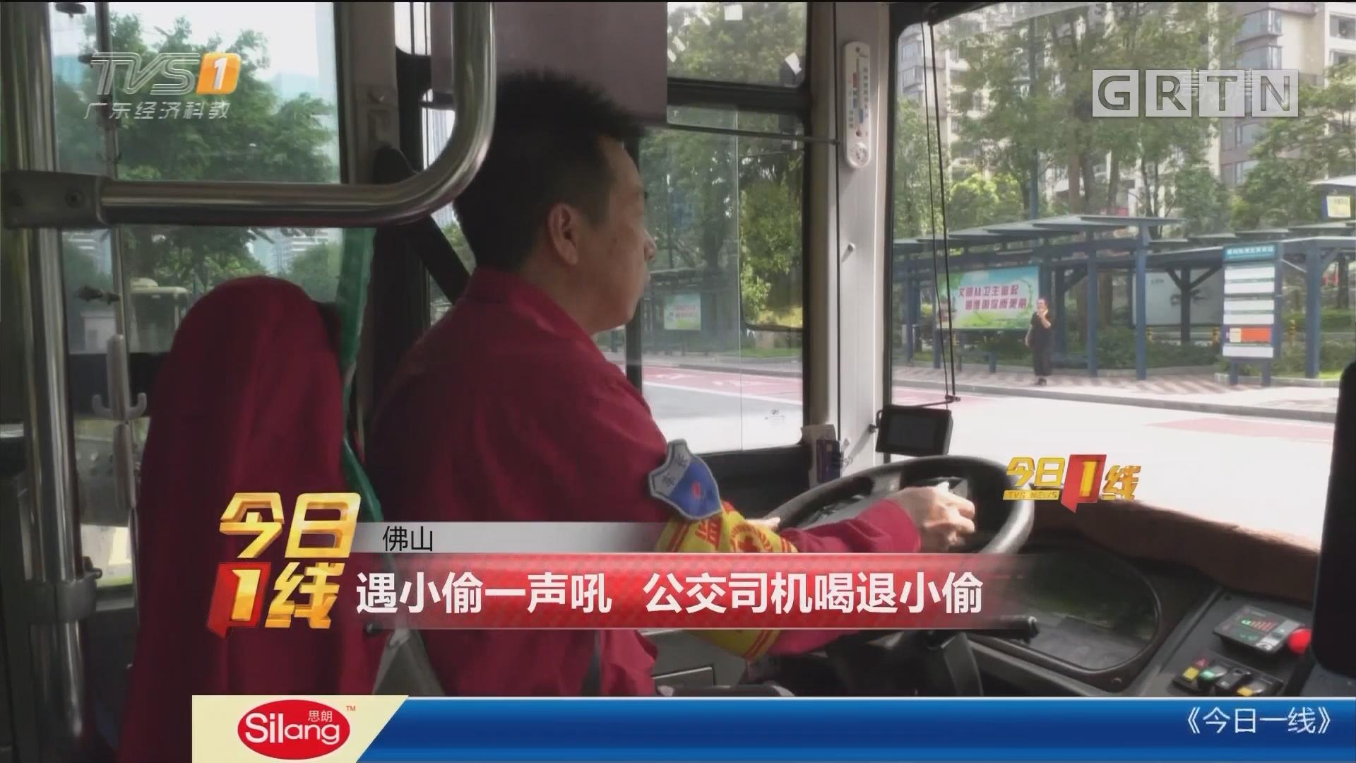 佛山:遇小偷一声吼 公交司机喝退小偷