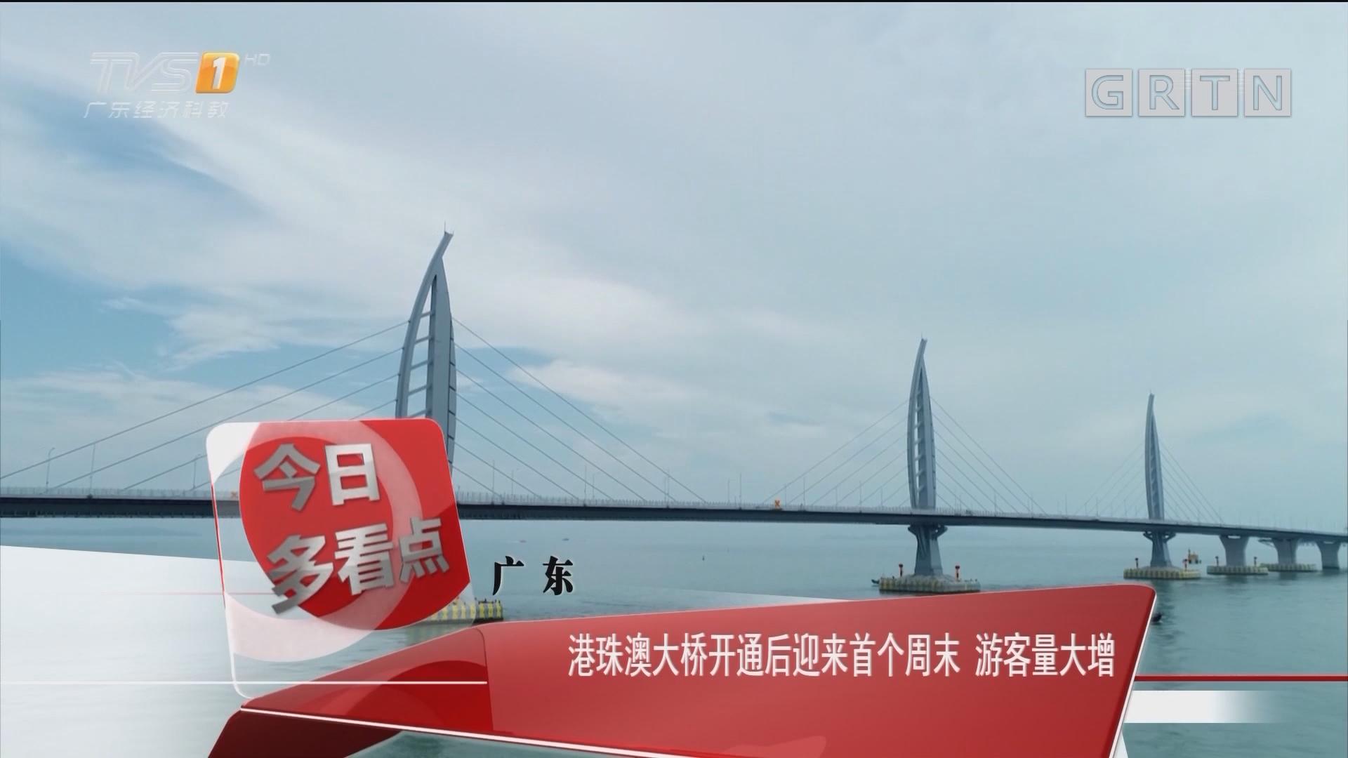 广东:港珠澳大桥开通后迎来首个周末 游客量大增