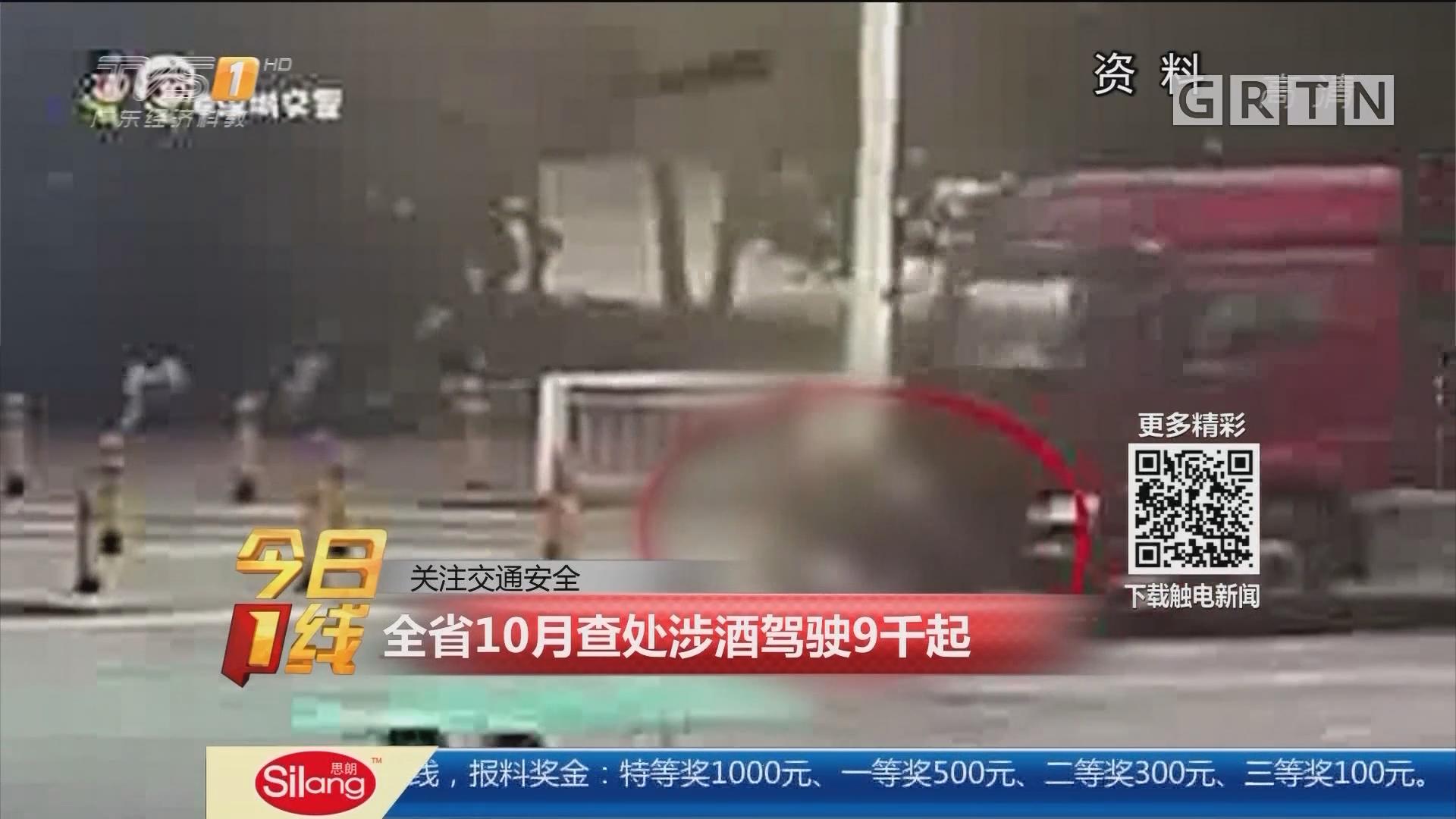 关注交通安全:全省10月查处涉酒驾驶9千起