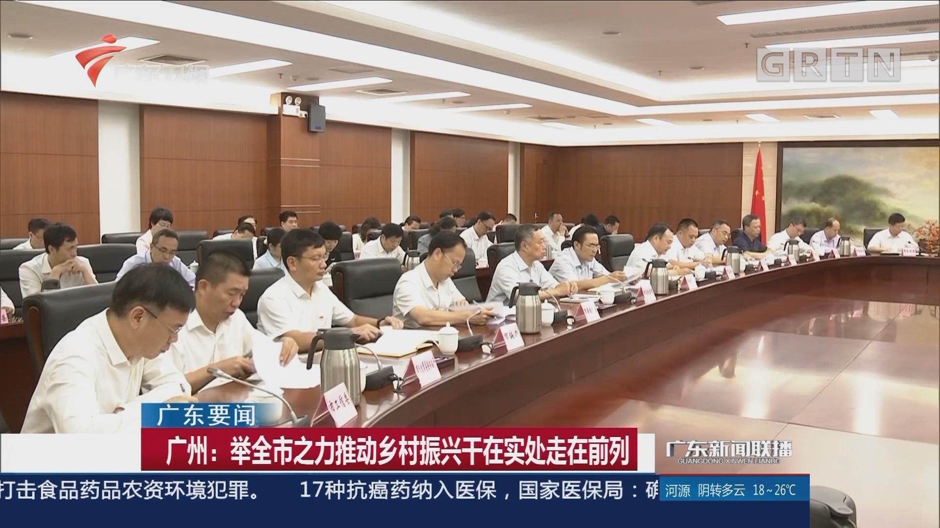 广州:举全市之力推动乡村振兴干在实处走在前列
