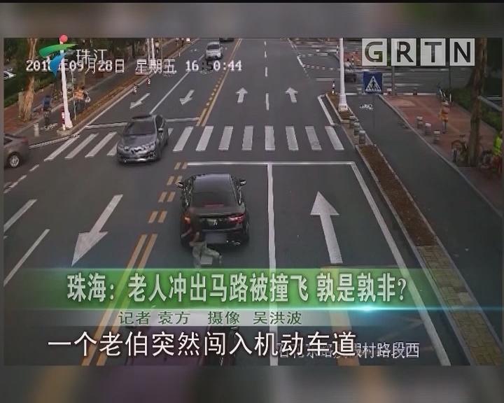 珠海:老人冲出马路被撞飞 孰是孰非?