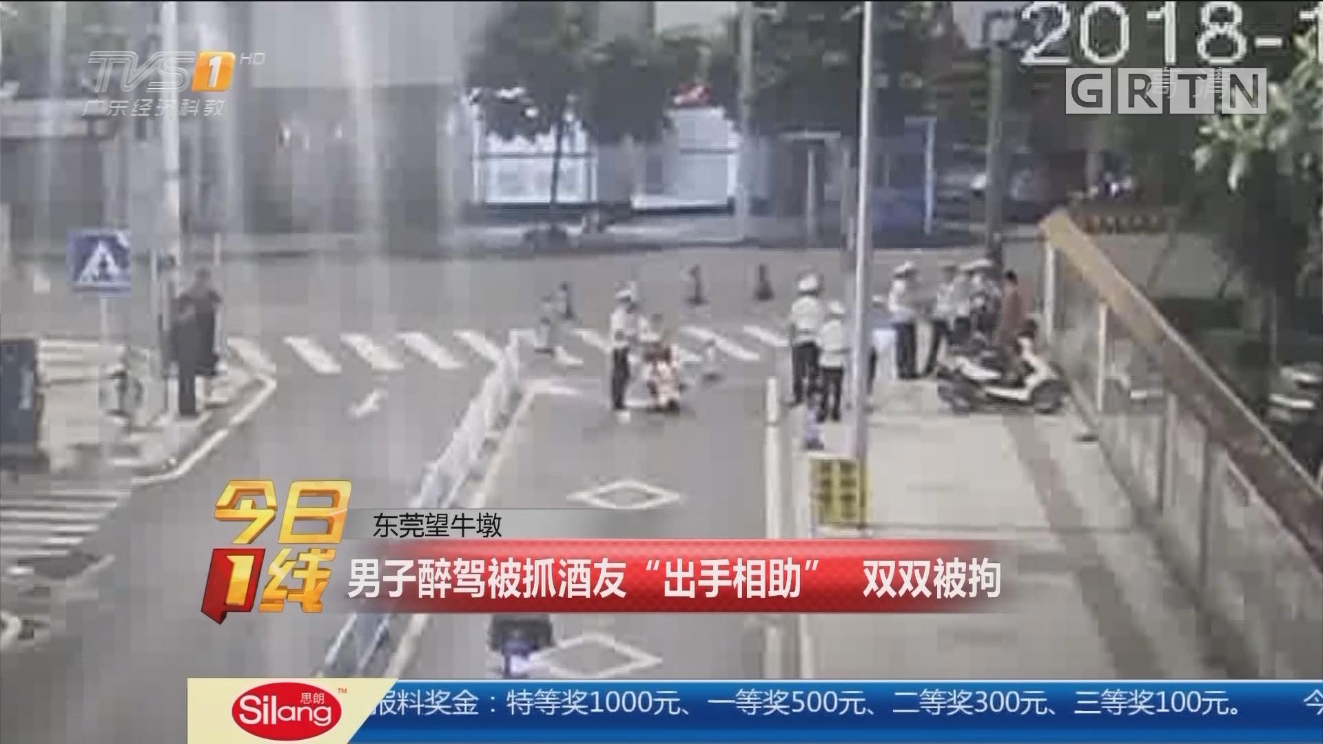 """东莞望牛墩:男子醉驾被抓酒友""""出手相助"""" 双双被拘"""