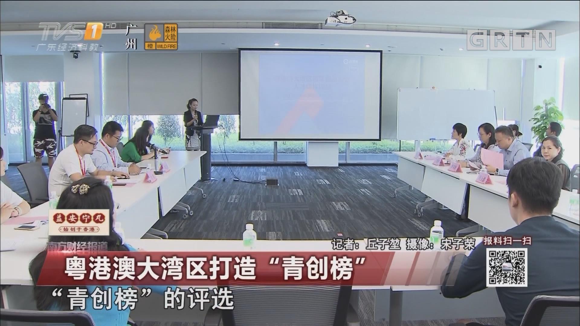 """粤港澳大湾区打造""""青创榜"""""""