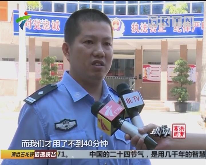 惠州:生死时速 交警开辟生命通道