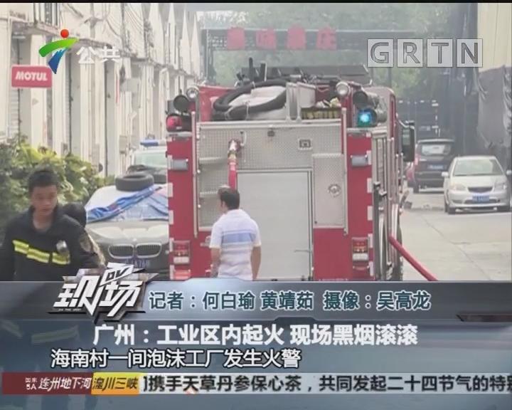 广州:工业区内起火 现场黑烟滚滚