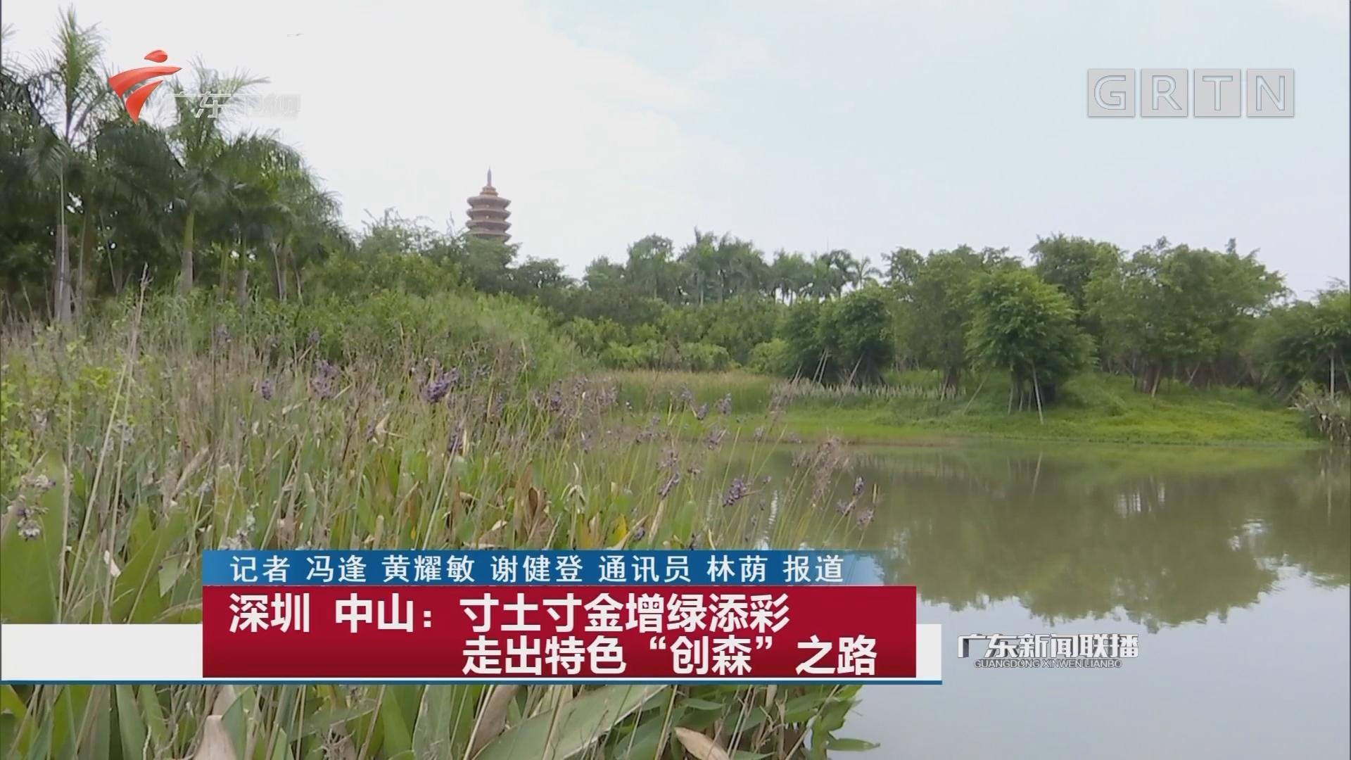 """深圳 中山:寸土寸金增绿添彩 走出特色""""创森""""之路"""