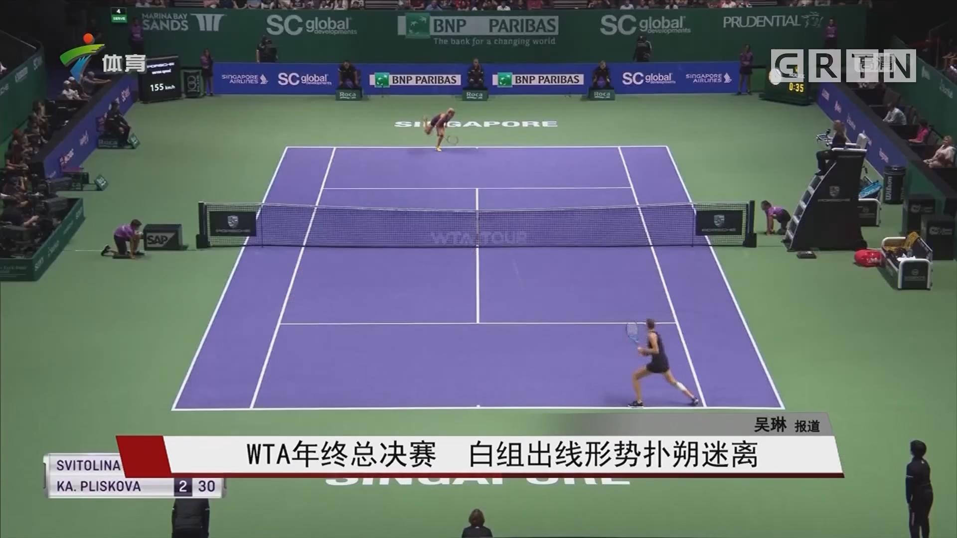 WTA年终总决赛 白组出线形势扑朔迷离