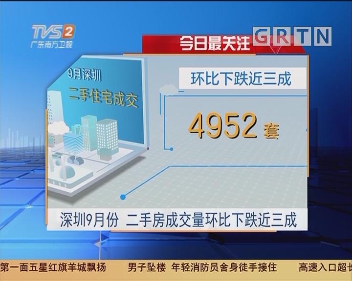 今日最关注:深圳9月份 二手房成交量环比下跌近三成