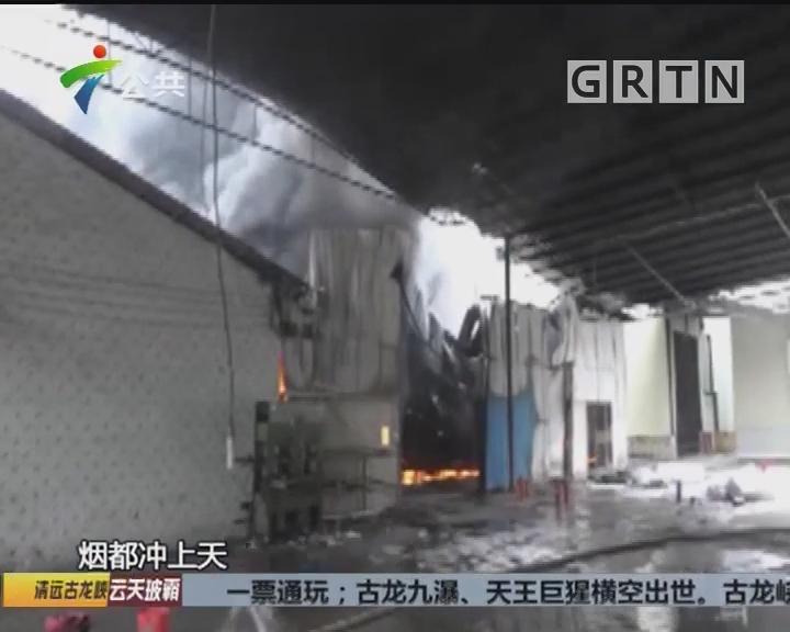 工厂突发大火 消防提醒注意秋季防火
