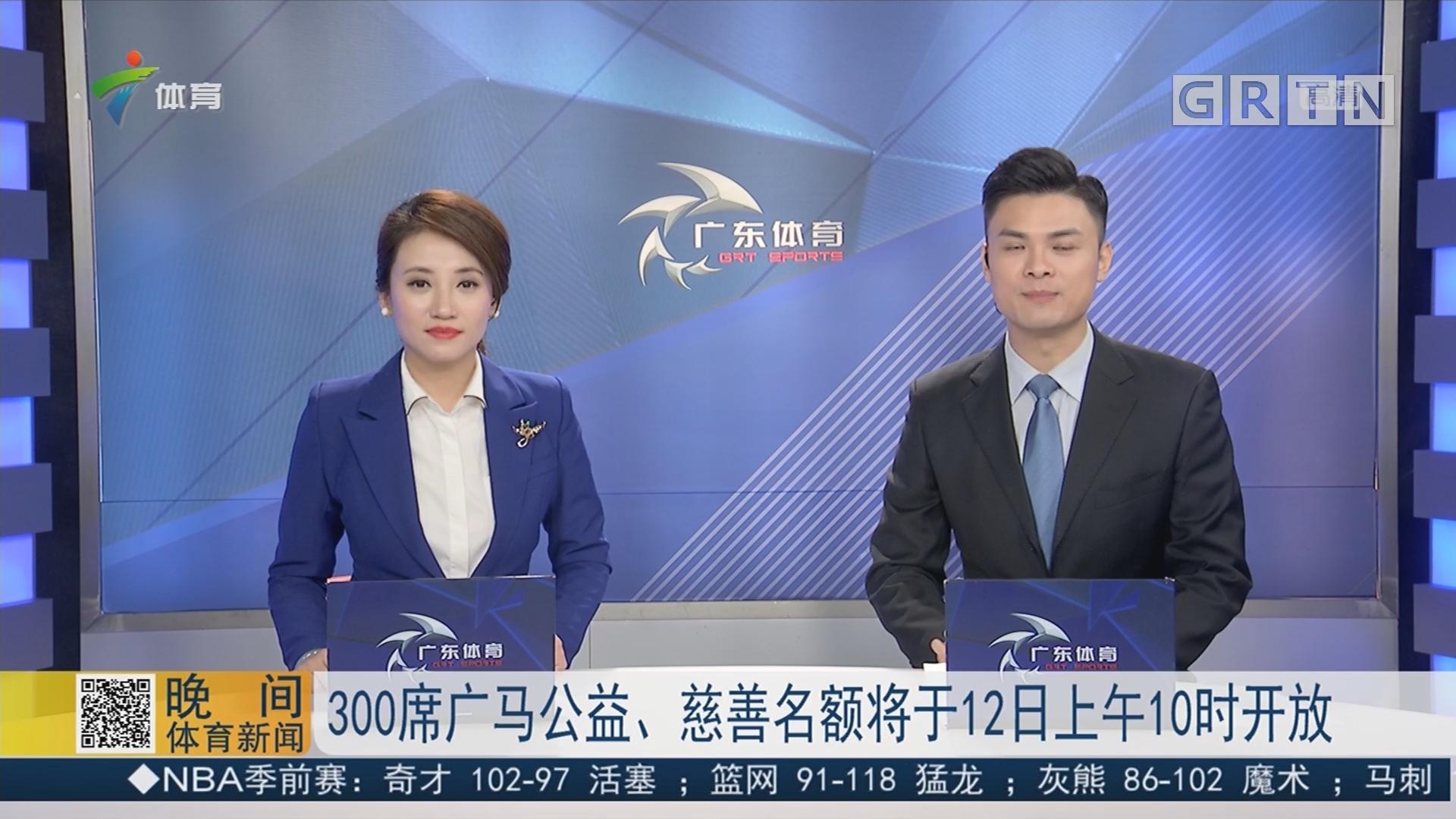 300席广马公益、慈善名额将于12日上午10时开放