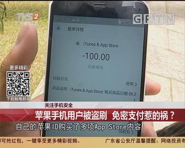 关注手机安全:苹果手机用户被盗刷 免密支付惹的祸?