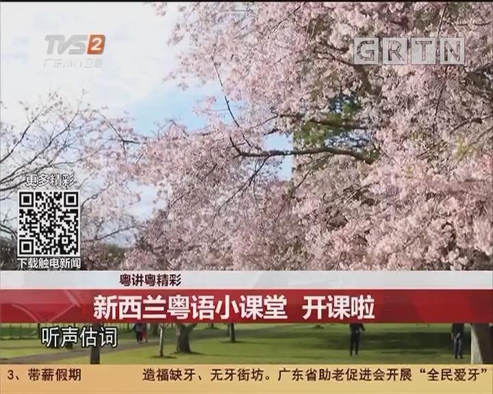 粤讲粤精彩:新西兰粤语小课堂 开课啦!