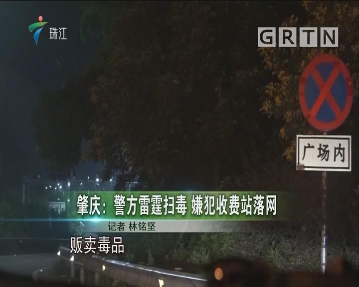 肇庆:警方雷霆扫毒 嫌犯收费站落网