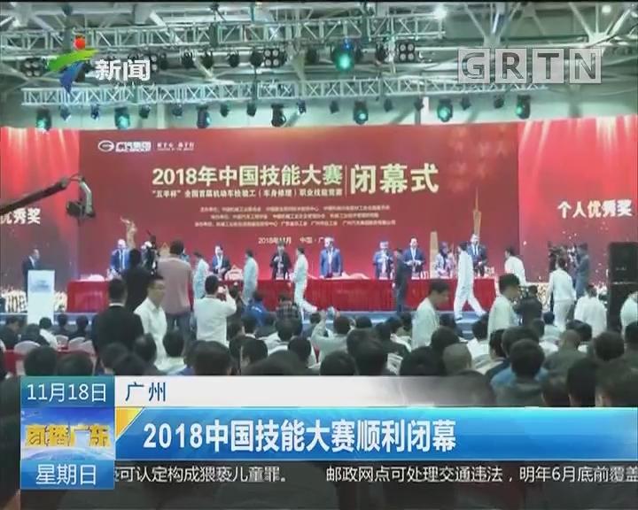 广州:2018中国技能大赛顺利闭幕