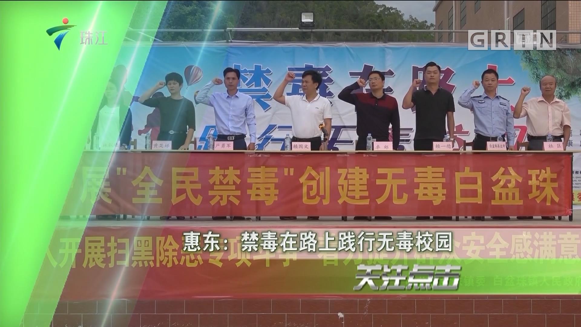 惠东:禁毒在路上践行无毒校园