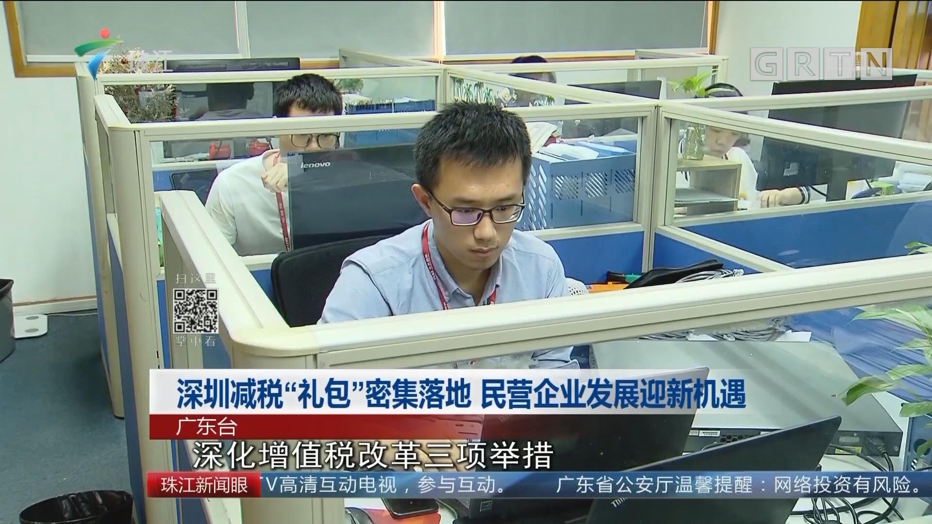 """深圳减税""""礼包""""密集落地 民营企业发展迎新机遇"""
