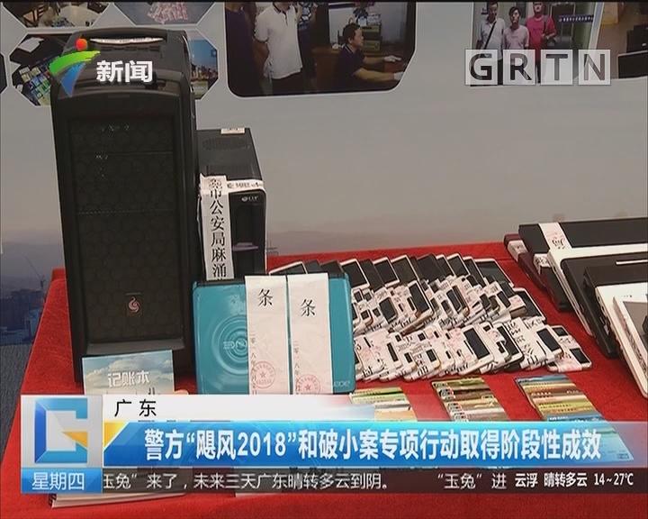 """广东:警方""""飓风2018""""和破小案专项行动取得阶段性成效"""