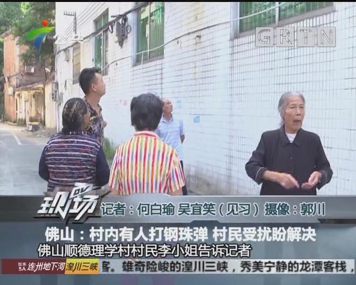 佛山:村内有人打钢珠弹 村民受扰盼解决