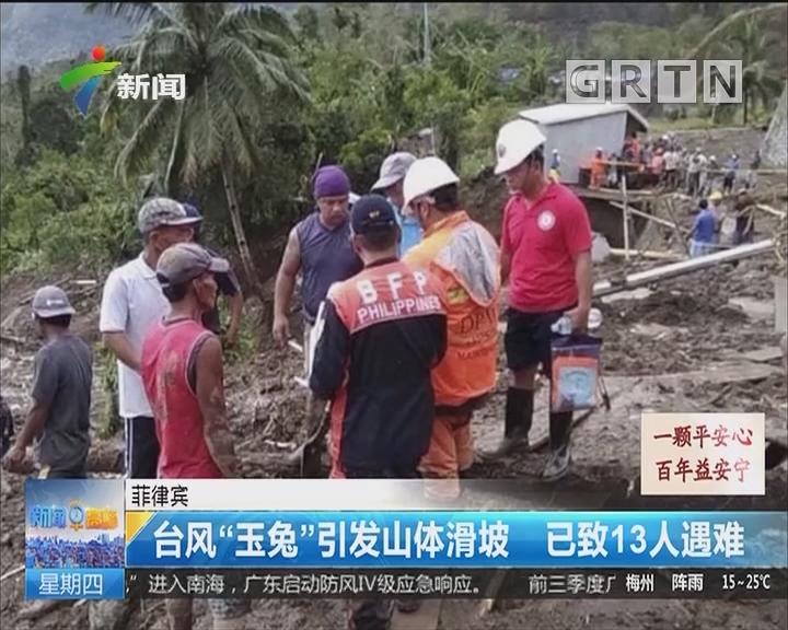 """菲律賓:臺風""""玉兔""""引發山體滑坡 已致13人遇難"""