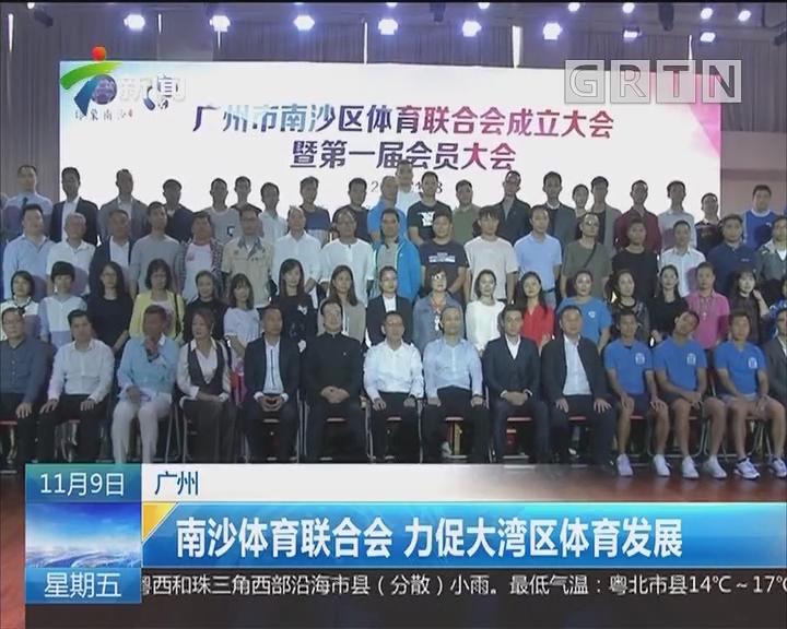 广州:南沙体育联合会 力促大湾区体育发展