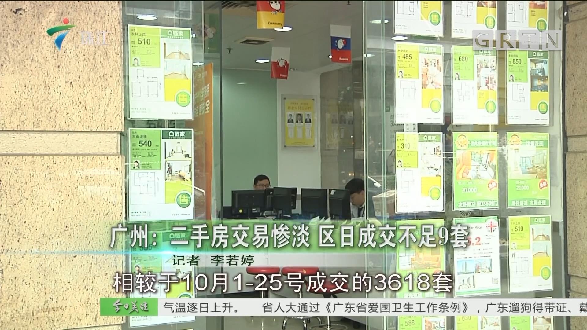 广州:二手房交易惨淡 区日成交不足9套