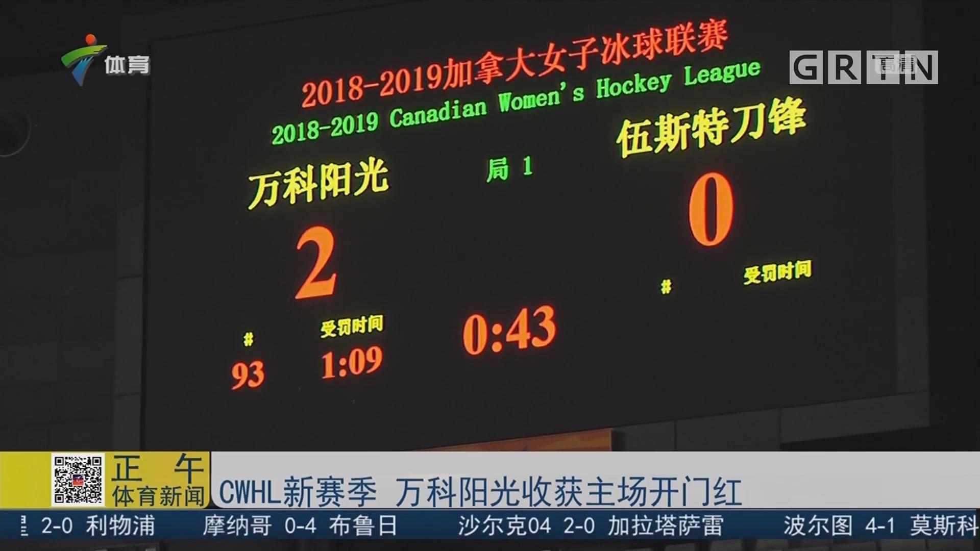 CWHL新赛季 万科阳光收获主场开门红