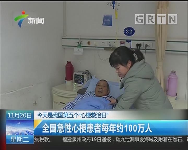 """今天是我国第五个""""心梗救治日"""":全国急性心梗患者每年约100万人"""