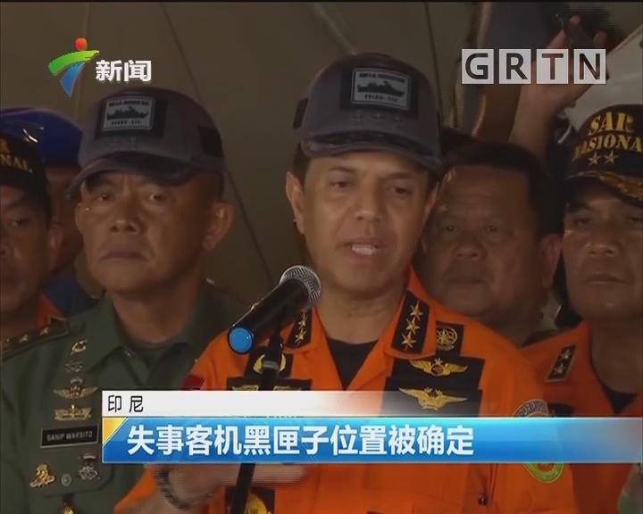 印尼:失事客機黑匣子位置被確定