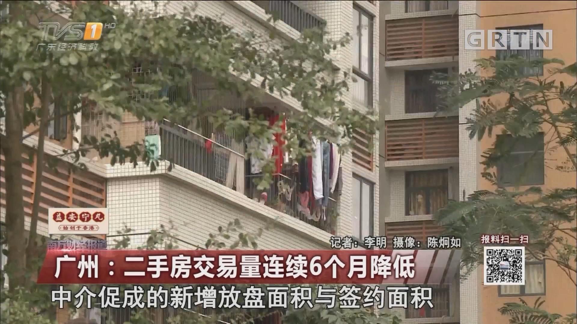 广州:二手房交易量连续6个月降低