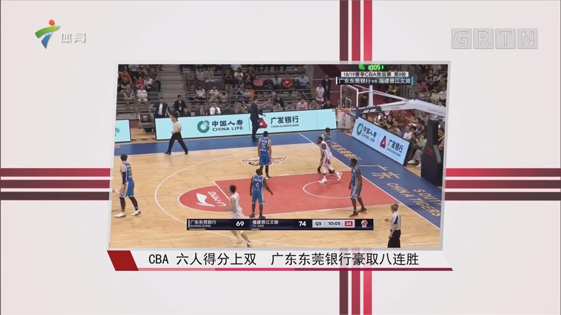 CBA 六人得分上双 广东东莞银行豪取八连胜