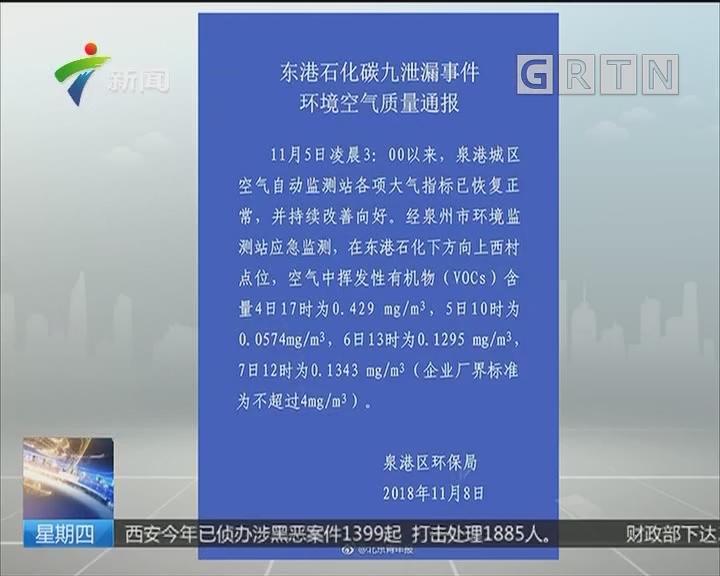 福建泉港近7吨碳九泄漏 渔民掉水中后进ICU